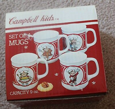 Campbell's Soup Cambell Kids / Set Of 4 / 9 Ounce Mugs / Westwood / New in Box