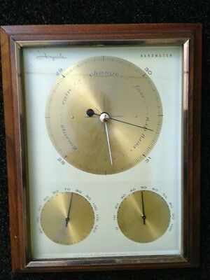 Airguide Barometer Weather Station Vintage Thermometer Wood Frame Wall Hanging