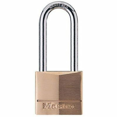 Master Lock 140DLH Solid Brass Keyed Different Padlock with 1-9/16-inch Wide Bod
