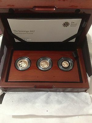 2017 gold sovereign proof 3 coin set  COA number 0594 Very Rare Cheapest On eBay