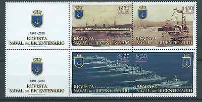 CHILE 2010 Navy ships 200 years Independence MNH with labels