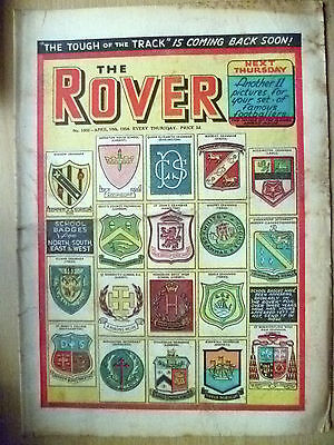 Comic-THE ROVER, NO.1502, 10 April 1954; School Badge from North,South,East,West