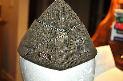 WW2 US Army Captain Chemical corps  garrison hat