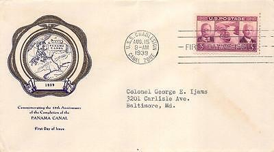 856 3c Panama Canal, First Day Cover Cachet [E119715]
