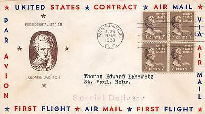 812 7c Andrew Jackson, First Day Cover Cachet [D120095]