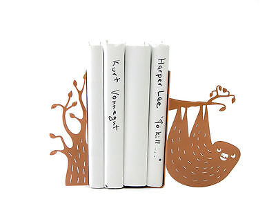 Atelier Article - Gift Steel bookends - Sloth (Brown)