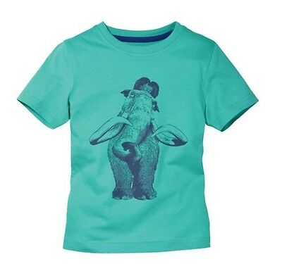 Boys Ice Age T-Shirt Green / Blue 4-6 Years
