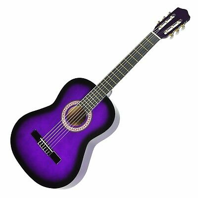 New Sanchez Classical Guitar for Kids 1/2 Size Beginner Nylon Strings (Purple)