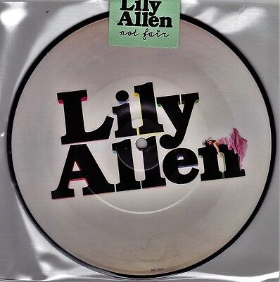 """Lily Allen - Not Fair / Why - 7"""" EU Vinyl 45 Picture Disc - New & Sealed"""