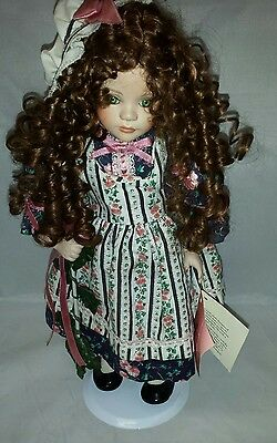 Paradise Galleries Porcelain Doll with Stand FREE SHIPPING