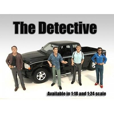 Complete Set of all 4 DETECTIVES - 1/24 scale figure/figurine - AMERICAN DIORAMA