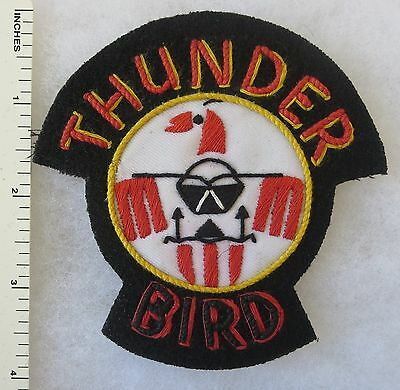 US AIR FORCE THUNDERBIRD PATCH Custom Hand Sewn for USAF VETERANS & COLLECTORS