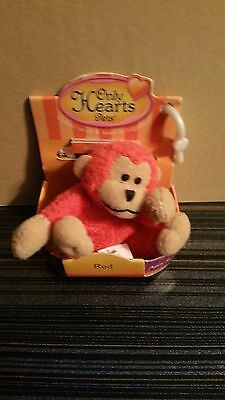 """Only Hearts Pets """"RED THE MONKEY"""" Only Hearts Club RARE NEW IN BOX"""