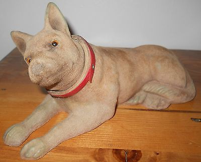 Vintage Marx Toys Flocked Rin Tin Tin Nodder German Shepherd Dog