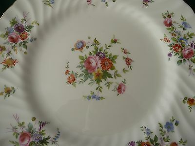 Minton England - Marlow Pattern S309 - Large Plate - Floral - Scalloped - Unused