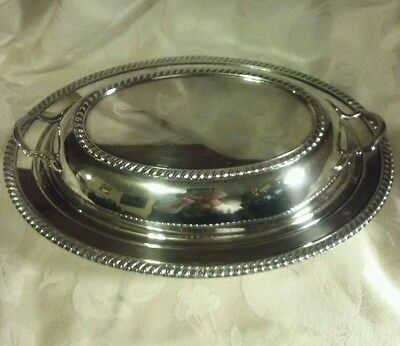 Silver Plate Covered Dish Vintage 3157