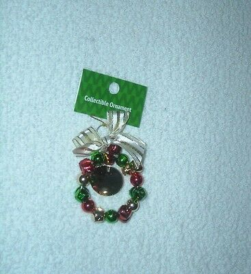Baby's First Christmas Jingle Bell Wreath Ornament New
