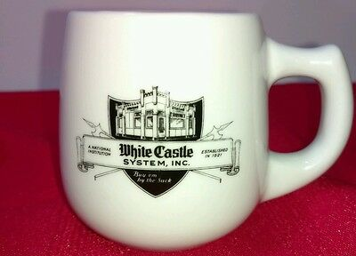 Vintage WHITE CASTLE Coffee Mug Cup Restaurant Ware w/Iconic Ashtray Bottom