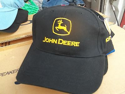 John Deere Black / Yellow / Logo / Cap Hat