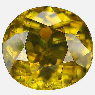 0.975Cts Attractive Luster Yellow Natural Sphene Oval Gemstones Free Shipping