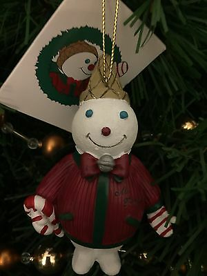 MR BINGLE 2009 Ornament Resin New With Storybook Tags Snowman New Orleans
