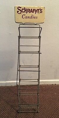 Antique SCHRAFFT'S Candies Folding General Store Display Rack Candy Advertising