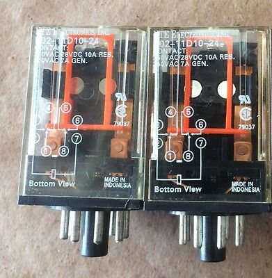 NTE R02-11D10-24 RELAY- NEW (LOT of 2)