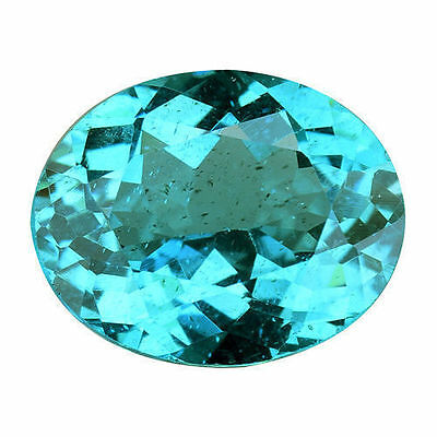 1.390 Cts Super Top Luster Blue Green Natural Apatite Oval Loose Gemstones