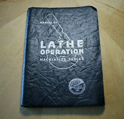 1937 Vintage Atlas Manual of Lathe Operation with Threading Supplement