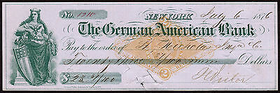 US Revenue Stamp: RN-G3, NY, Check Used, 1876