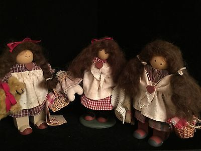 Lizzie High Doll Martin Special Event Edition Bears Dolls Baskets Wood Doll