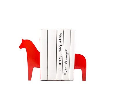 Atelier Article - Gift Steel bookends - Dala horse (Red)