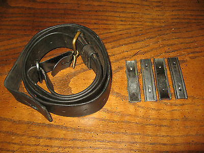 Swedish leather Mauser sling 4 stripper clips m1896 m96 m38 military