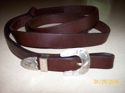 Leather Show Lead Victor Quality Sterling Buckle no chain