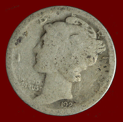 1925-P Mercury 90% Silver Dime Ships Free. Buy 3 get xtra Silver Coin. NR