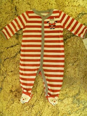 Carter's Christmas Santa Velour Pajamas Outfit Size 3 Months NWT NEW Baby