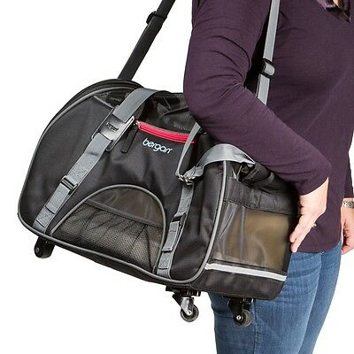 Dog Rolling Carrier 4 Wheel Pet Bag Airline Approved Carrier Pets Up To 20 Lbs