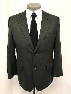 mens charcoal JOSEPH & FEISS 2pc PANT SUIT jacket two button wool classic 40 R