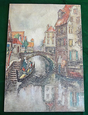 Vintage E.A.D. Picture Puzzle wood jigsaw 506 pieces Naples 34 figures Complt EX