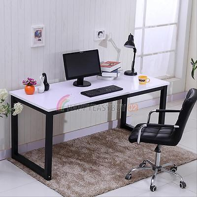 Home Office Desk Computer PC Writing Table WorkStation Wooden Metal Furniture UK