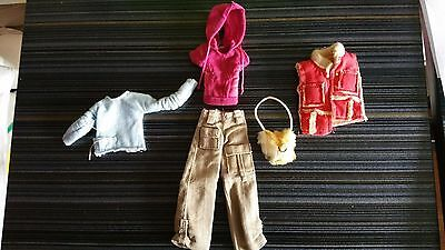 Only Hearts Club Lot #x7 Doll Outfits Pink Vest, Pink Hoodie, Tan Pants More