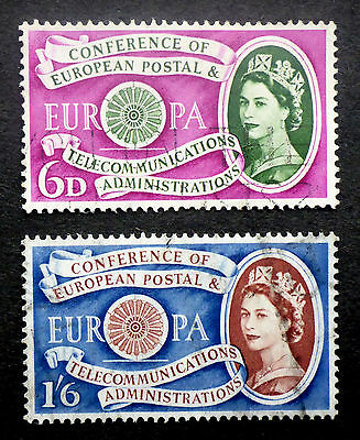 Great Britain S.g.#621-2 Used 1960 Europa Set