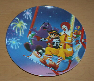 McDonald's Collectible Child's Plate Ronald Carnival Fun Ferris Wheel Grimace 9""