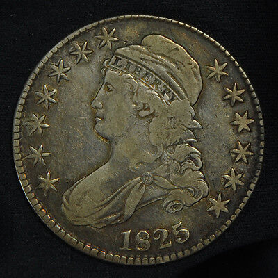 1825 Capped Bust Half Dollar -- VF Condition