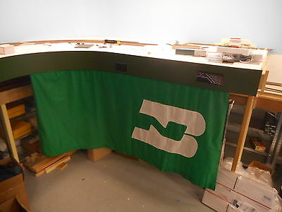 Model Railroad under Fascia curtains, Burlington Northern BN Green velcro