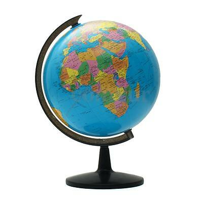 8.5-32cm Blue Ocean World Globe Map With Swivel Stand Geography Education Toy