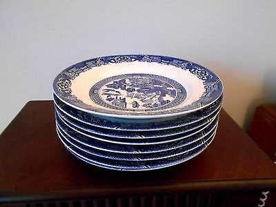 8 Blue Willow Cuthbertson Salad Plates
