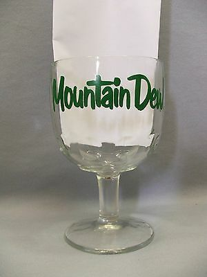 Mountain Dew It'll Tickle Yore Innards Advertising Footed Soda Float Glass