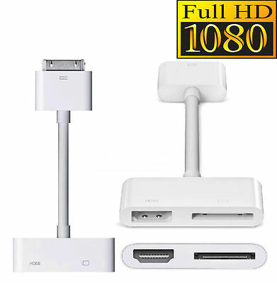 Digital AV Adapter 30Pin Dock Connector To HDMI Fr Apple iPad 2 3 iPhone 4s IOS8