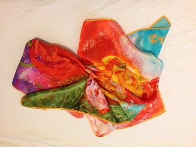 Aspinal 100% Silk Women's Square Scarf
